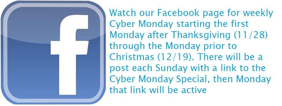 Cyber Monday Specials